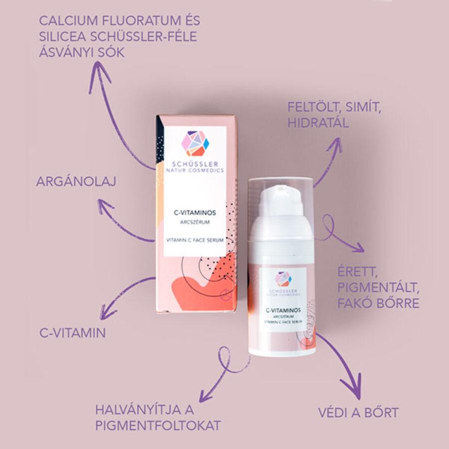 Schüssler C-vitaminos arcszérum